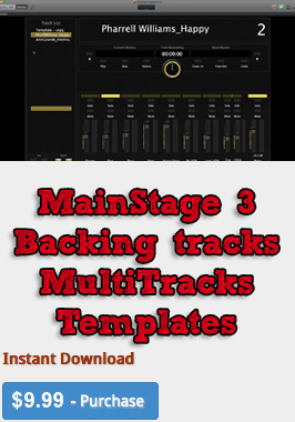 MainStage 3 backing tracks template