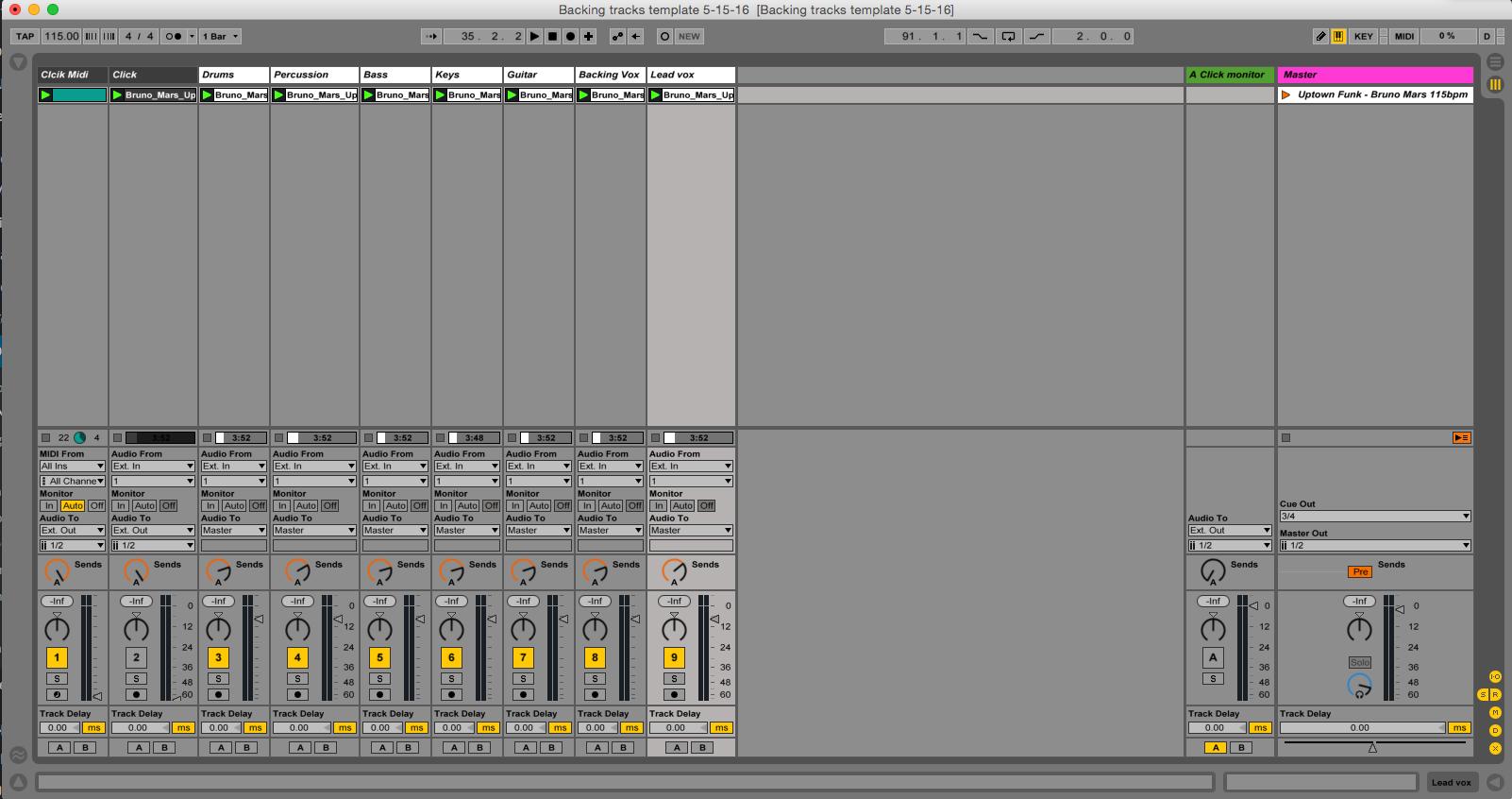 Ableton Backing Tracks Template